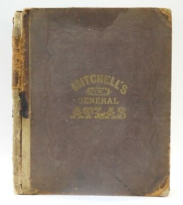 Mitchell's 1865 New General Atlas Book Lot 135