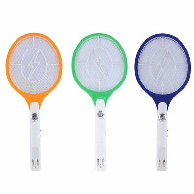 Rechargeable LED Electric Bug Fly Mosquito Killer Swatter Zapper Racket CUX#