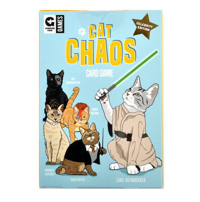 Cat Chaos Card Game - Celebrity Edition with Hairy Potter David Meowie