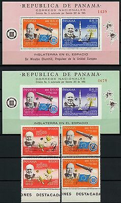 Space Raumfahrt 1968 Panama Satelliten 1105-1106 a/b + Block 99-100a MNH/977