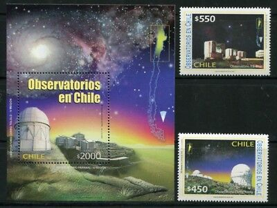 Chile 2002 Astronomie Observatorien Observatory Astronomy 2078-2079 Block 54 MNH