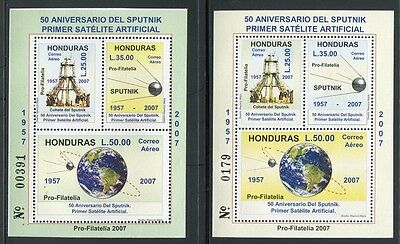 HONDURAS 2007 Raumfahrt Space Sputnik Satellit Block 92-93 ** MNH