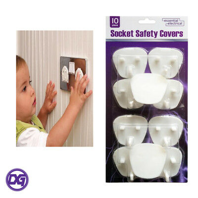 Electrical Plug Protector Socket Safety Covers x10 Child/Baby Main Socket Cover