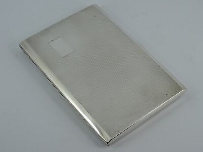Lovely Solid Sterling Silver Art Deco Style Cigarette Case Birmingham 1946 211G