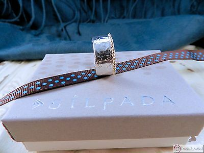 SILPADA R3476 ~ Dotted Trim Ring ~ Sterling Silver & Brass ~ Size 7