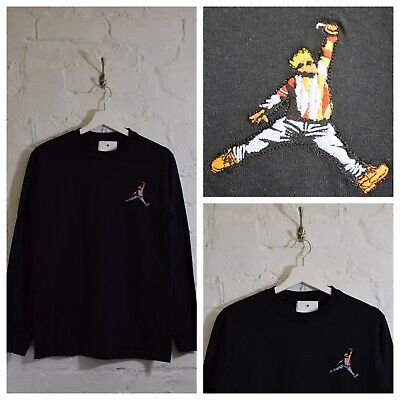 dcccd1ca375c Actual Fact Biggie x Jordan Slam Dunk BIG Hip Hop Black Long Sleeved T-shirt