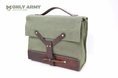 Vintage Swiss Army Canvas + Leather Bag Ammo Magazine Tool Bag Tough Military