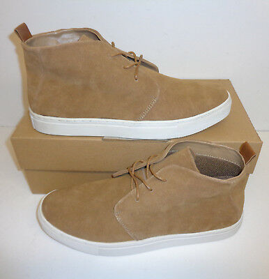 Men's Tan Brown 100% Leather Upper Slip On Ankle Chelsea Boots Shoes Sizes 7-12