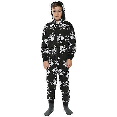 Kids A2Z Onesie One Piece Girls Boys Skull & Cross Bones Print Jumpsuit 1-12 Yr