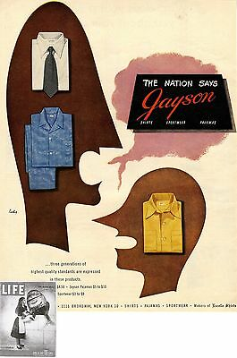 F.Jacobson & Sons Inc. NY * Markes of Excello Shirts * US-ADVERTISING 1947