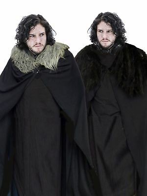 "John Snow 60"" Cape Cloak Game of Thrones Direwolf/Blackwatch Fancy Dress"