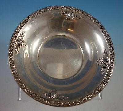 "Meadow Rose by Watson Wallace Sterling Silver Candy Dish 6"" #A229 (#2002)"