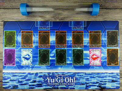 YuGiOh Master Rule 4 Link Zone Template 1P Custom Playmat New design Free Tube