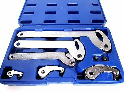 US PRO 6pc Adjustable Hook & Pin Wrench Set C Spanner Kit 35mm - 120mm 6811