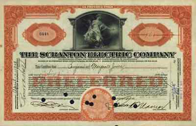 Scranton Electric Company 1938 Scranton Pennsylvania Heat and Power Company 6 Sh