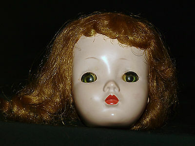 "1950s Vintage Madame Alexander 20"" CISSY Doll HEAD and WIG"