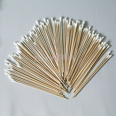 100pcs Cotton Swab Applicator Q-tip Swabs 6in Extra Long Wood Handle Sturdy JKHW