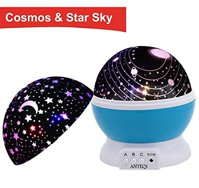 Night Light Romantic Rotating Colourful Sky Moon Cosmos Cover Projector Bedroom