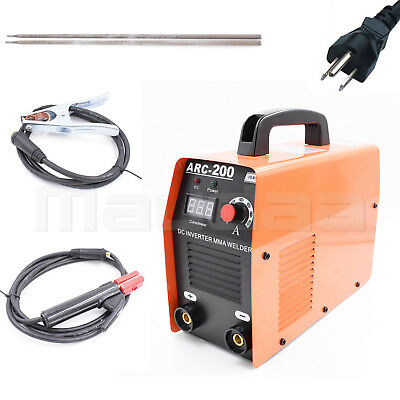 Stick ARC DC Inverter Welder Soldering Welding Machine MMA IGBT 200 Amp Fan 110V