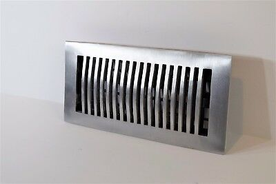 Decor-Grates-Floor-Register-Air-Vent-Aluminum Nickel 4x10, 4x12, 4x14, 2x12.