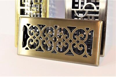 Decor-Grates-Floor-Register-Air-Vent-Scroll - Antique 4x10, 4x12, 4x14, 2x12.