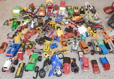 Lot Of Mixed Cars Toys Trucks Bundle 100 Pieces Collection Boys Games