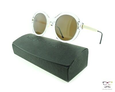 Thierry Lasry Sunglasses Milfy 000 Transparent & Gold / Brown Lenses Round