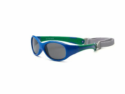 Real Kids Shades EXPLORER Sunglasses Blue/Green Strap Polycarbonate BABY AGE 0-1