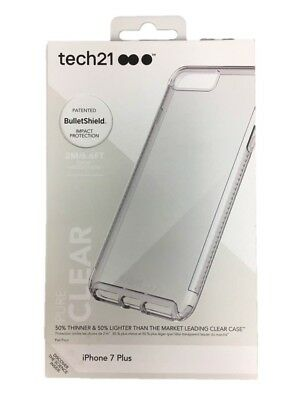 Tech21 Pure Clear Impact Protection Case For iPhone 8 Plus 7 Plus HT54