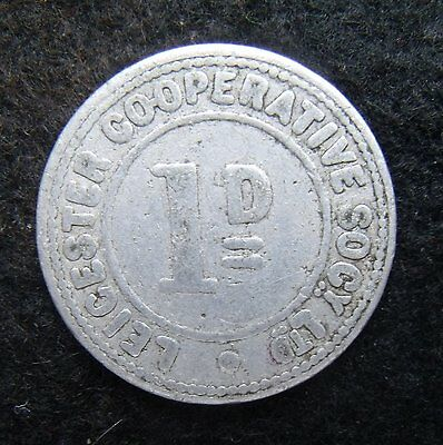Leicestershire Cooperatvie society Ltd One Penny Token Nice example see pictures