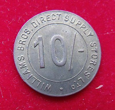 William Brothers Stores Ten Shilling Token Nice example see pictures
