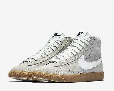 buy online 131ac 1b32d NIKE BLAZER MID (GS) 895850-101 Off White Black Gum Youth Boy's Lifestyle  Shoes