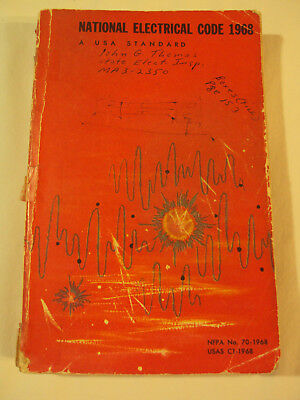 1968 National Electric Code Book, Softcover, NFPA No. 70-1968