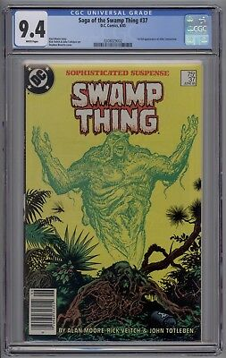 Saga of the Swamp Thing # 37 CGC 9.4 NM 1st Appearance of John Constantine 1985
