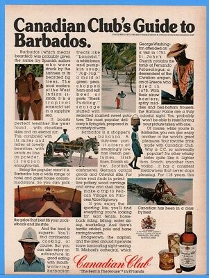 1976 Canadian Club Whiskey CC Guide To Barbados Bikini African American Black Ad
