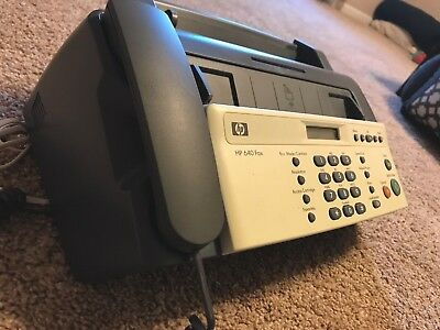HP 640 Fax Plain Paper Inkjet Quality Fax Machine / USED / GOOD