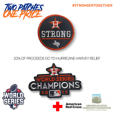 Official 2017 MLB World Series Champions Houston Astros & Houston Strong Patch