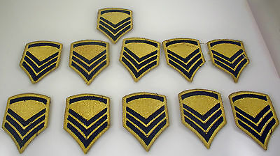 Lot of 11 Original WWII US Army Staff Sergeant Patch Korean War