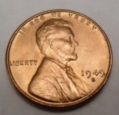 1949 S Lincoln Wheat Cent / Penny Coin  *FINE OR BETTER*  **FREE SHIPPING**