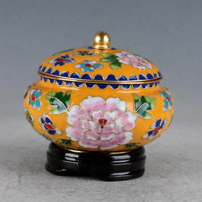 Chinese Cloisonne Hand-made Flowers Pot JTL1017
