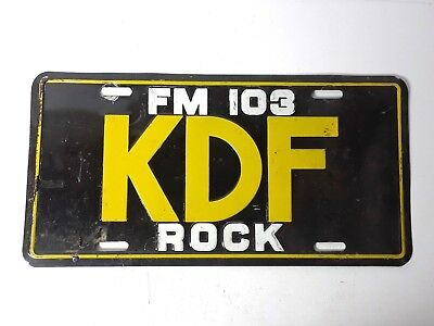 Vintage FM 103 KDF Rock Tenessee Radio Station Advertising License Plate