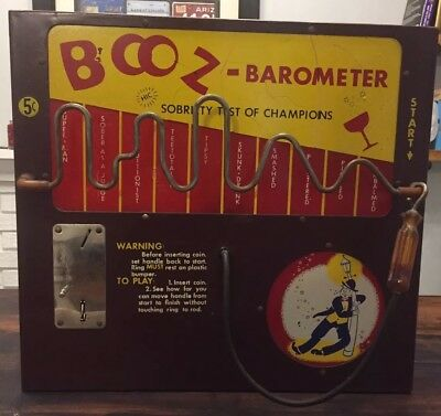 1950 Rare Booz Barometer Bar Arcade Game by North Western Corp.