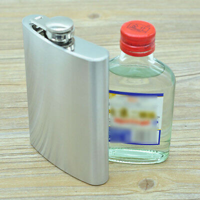 8 oz Stainless Steel Liquor Whiskey Alcohol Flagon Flask Wine Bottle Portable