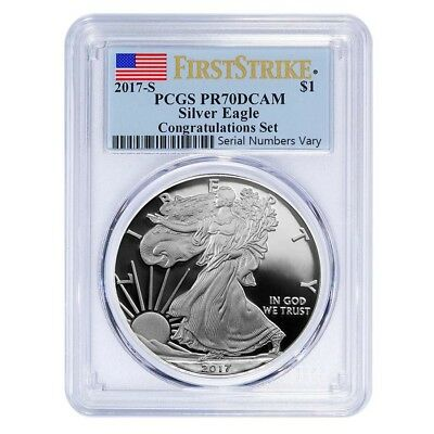 2017-S 1 oz Proof Silver American Eagle PCGS PF 70 DCAM First Strike