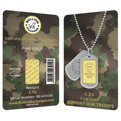 2.5 Gram Gold Bullion Exchanges Army Camouflage Istanbul Gold Refinery (IGR)