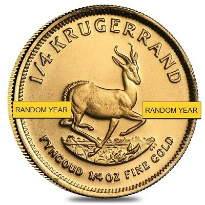 1/4 oz South African Krugerrand Gold Coin (Random Year)