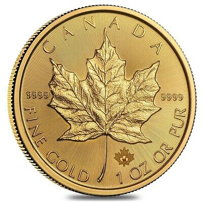 Sale Price - 1 oz Canadian Gold Maple Leaf Coin (Random Year)