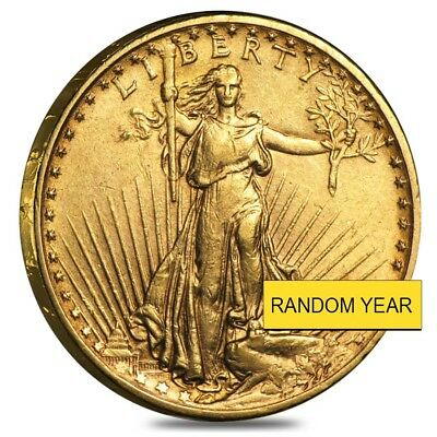 $20 Gold Double Eagle Saint Gaudens - Extra Fine XF (Random Year)