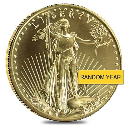 1/2 oz Gold American Eagle Abrasions (Random Year)