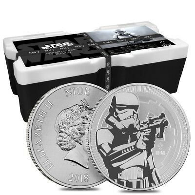 Monster Box of 250 - 2018 1 oz Niue Silver $2 Star Wars Stormtrooper BU (10